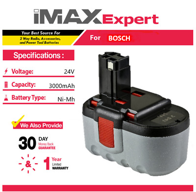 24V Extended 3000mAh 3.0AH Ni-Mh Battery for Bosch BAT030 BAT031 BAT240 BAT299