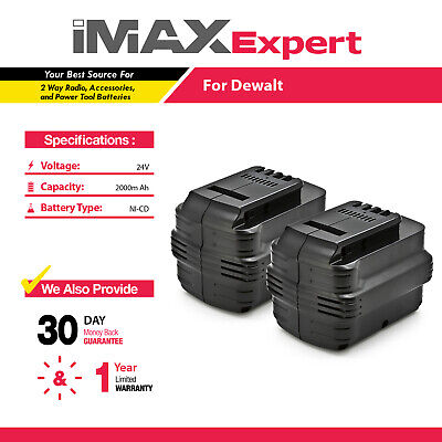 2 x 24V 24 VOLT Ni-Cd Battery for DEWALT DW0242 DW0240 2.0AH