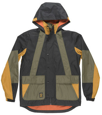 Grizzly Griptape Redwood Jacket Mesh Windbreaker Heavy Duty Outerwear Mens Black