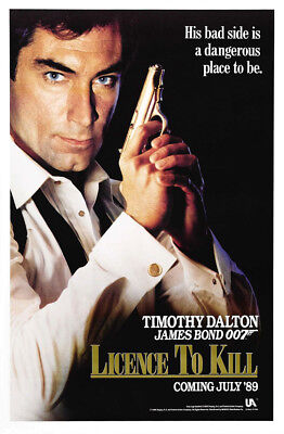 LICENSE TO KILL • 1-Sheet Movie Poster •A• ROLLED  • JAMES BOND • 1998