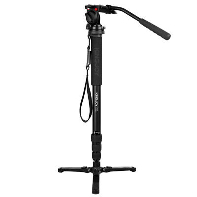 """Lightweight Monopod Video Professional with 1/4""""&3/8"""" Fluid Pan for DSLR"""