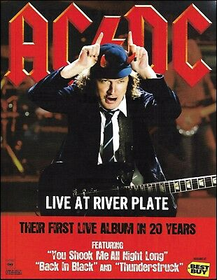 AC/DC 2012 Live at River Plate ad 8 x 11 advertisement print ready to frame