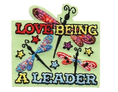 Girl Boy Cub LOVE BEING A LEADER Fun Patches Crests Badges SCOUT GUIDE cute