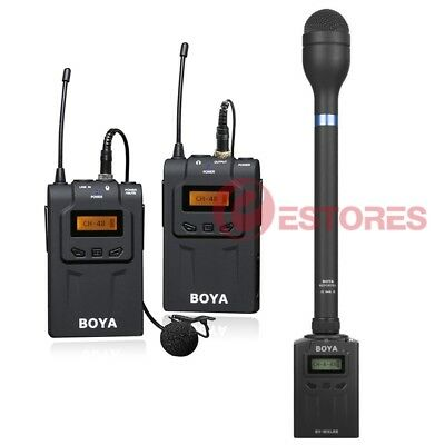 3 in1 BOYA BY-WM6+BY-WXLR8+BY-HM100 Wireless Microphone System For EFP ENG DSLR