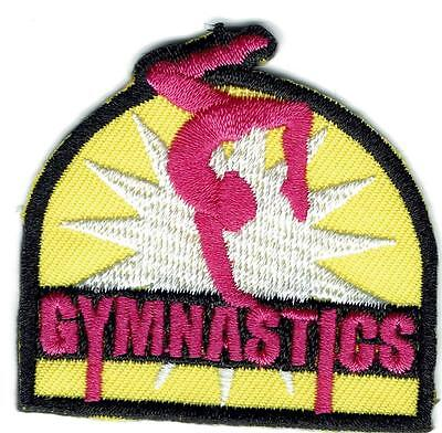 Girl Boy Cub yellow GYMNASTICS meet Class Fun Patches Crests Badge SCOUT GUIDES