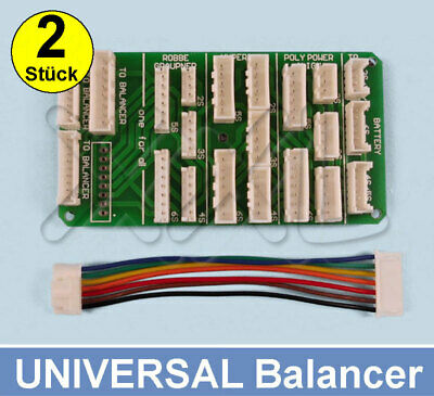2x Lipo Balancer Multi Adapter Lade Board 2S-6S ( TP / HP / XH / EH ) All in one