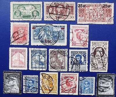 POLAND- 1927-1935 Collection of Used and M w/o gum (1) Stamps