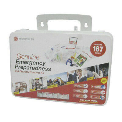Emergency Preparedness First Aid Kit - 167 Pieces