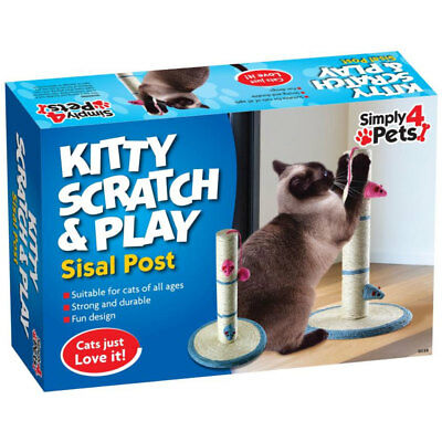 Cat Scratching Play Post Scratch Kitten Pole Stand Kitty Toy Mice/Mouse/Ball