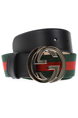 CINTURA GUCCI BELT % Made In Italy Uomo Verde 411924H917N-1060 - EUR ... 9d3ed31e3dcb