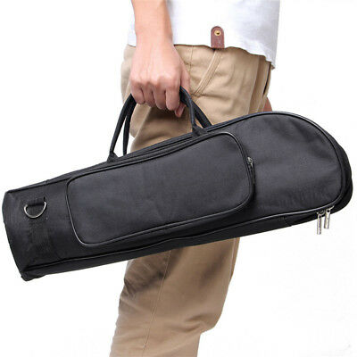 Men's Black Gig Bag Crossbody Trumpet Bag Thicken Padded Foam Trumpet Case