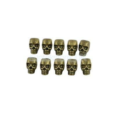 10Pcs Antique Bronze Gothic Charm Skull Spacer Beads Jewelry Accessories