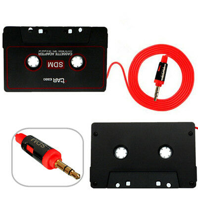 UK iPhone MP3 Android XG Audio AUX Car Cassette Tape Adapter Converter 3.5mm