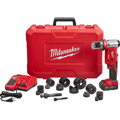 New Milwaukee Tool 2677-21 M18 Forgelogic 18 Volt 6 Ton Knockout Tool Set Sale