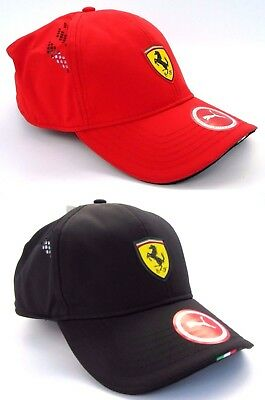Mens Womens Puma SF Ferrari Fanwear Stretch Fit Baseball Cap Caps Hat Hats