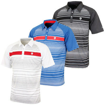 Island Green 2016 Mens IGTS1462 Engineered Stripe Performance Golf Polo Shirt