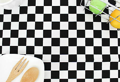 Black white Checked 100% Cotton Oxford fabric Chess check cushion Fabric FO239*