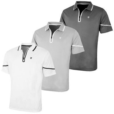 Island Green 2017 Mens Zip Placket CoolPass Tech Golf Polo Shirt