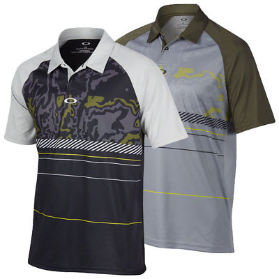 Oakley Golf 2017 Mens Engage UV Protection Short Sleeve Stretch Polo Shirt Top