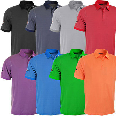 Callaway Golf Mens Industrial Jacquard Hawkeye Odyssey Tour Logo Polo Shirt