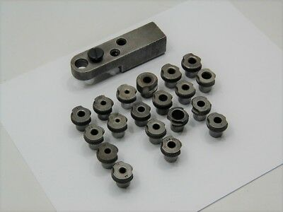 Douglas Aircraft Steel Drill Bar & (19) Slip Fit Drill Bushing ~ Aircraft Tools