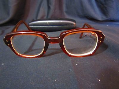 VINTAGE CLASSIC BAUSCH & LOMB USS 4 1/2-5 3/4 Industrial Safety GLASSES 50-24