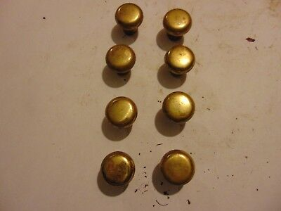 Lot of 6 vintage salvaged Solid Brass Drawer Pull Knobs Vintage Handle Furniture
