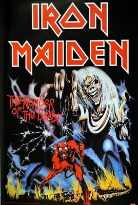 IRON MAIDEN POSTER Number of the Beast RARE NEW 24X36 - PRINT IMAGE PHOTO -PW0