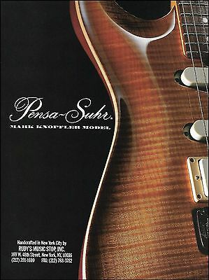 The Pensa-Suhr Mark Knopfler Model electric guitar ad 8 x 11 advertisement print