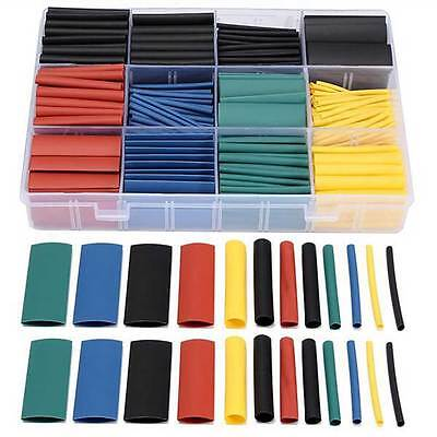 530 pcs Heat Shrink Tubing Tube Assortment Wire Cable Insulation Sleeving Kit#
