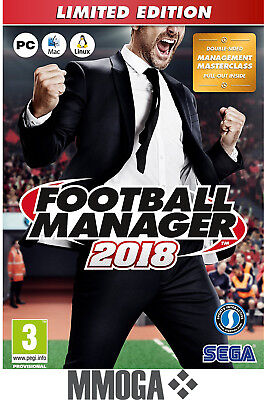Football Manager 2018 Limited Edition Key - PC STEAM Download Code FM18 [DE/EU]