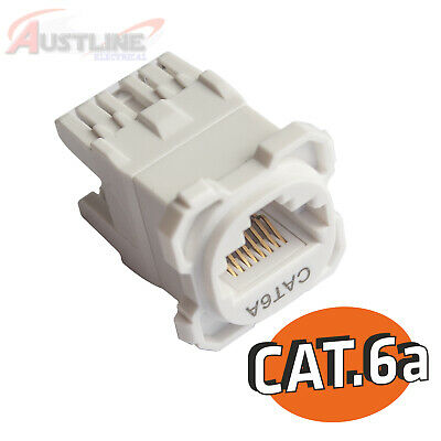 CAT6a RJ45 Socket 8P8C Network LAN Data Jack Mech Insert Fits Clipsal k6a180-z