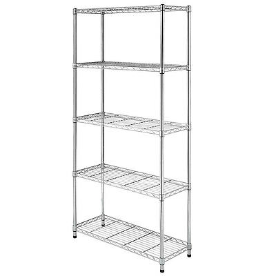 3/4/5 Tier Wire NSF Shelving Rack Heavy Duty Chrome Shelf Adjustable Organizer
