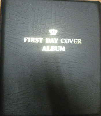FIRST DAY COVER BLACK CROWN ALBUM 3 Ring Empty BINDER Capacity approx 30 Pages