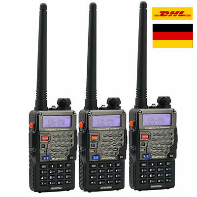 3x BaoFeng * UV-5R Plus * 2M/70cm Hand-funkgerät Dual-Band Radio Walkie-Talkie