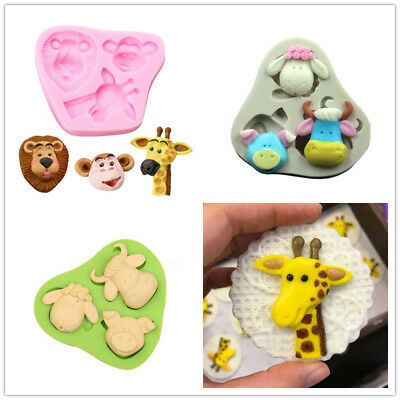3D Animals Shape Baby Shower Pastry Cutters DIY Cake Decor Sugarcraft Mold Tools