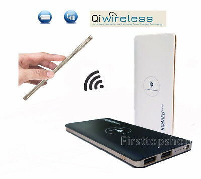 Qi Wireless Charging Portable Charger 10000mAh Power Bank Battery Iphone Samsung