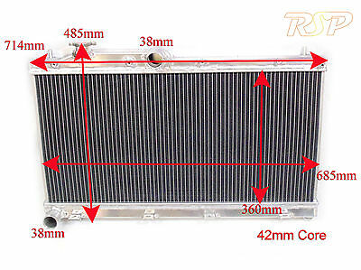 Universal Alloy Radiator Rad Core Size 685x360x42mm Ideal For Track Race Kit Car