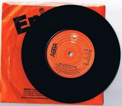 Abba Take A Chance On Me 45 rpm Side B I'm A Marionette British Pressing