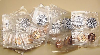 """1963   Lincoln  Proof  Roll  50  Coins  """" Mint  Cello  """"  #1108"""