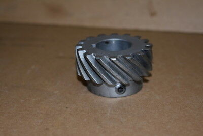 "Helical gear, 2"" pitch dia, 16 tooth, 8"" pitch, 1"" bore, LH, HS816L, Boston Gear"