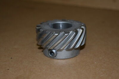 "Helical gear, 2"" pitch dia, 16 tooth, 8"" pitch, 1"" bore, RH, HS816R, Boston Gear"