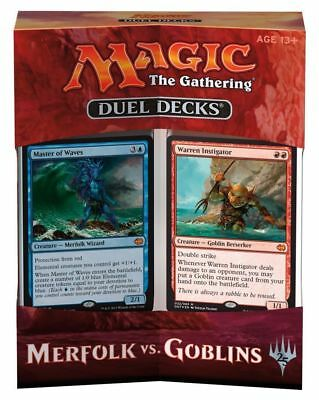 Duel Decks : Merfolk vs. Goblins mtg 2 Mazzi / Deck Magic Inglese Nuovo DDT