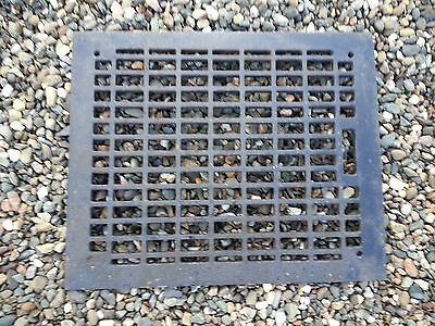 "Vintage VICTORIAN Cast Iron Floor Grille Heat Grate Register 15"" long x 12"" wide"