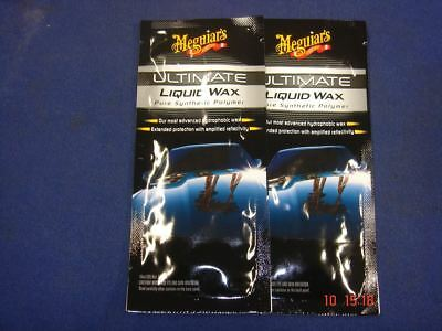 2 x Meguiars Ultimate Liquid Wax 1oz Sachet