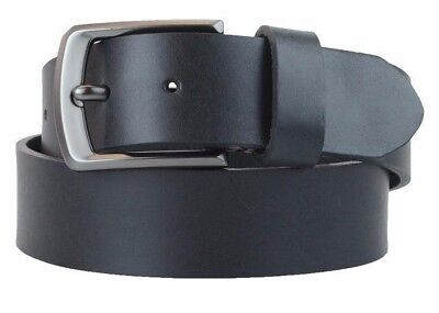 Men's US Steer Hide Leather 38MM Belt With Gun Metal Buckle Made In The USA
