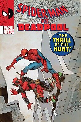 Spider-Man Deadpool #23 Lenticular Variant Marvel Legacy Comic Book NM 1f bc