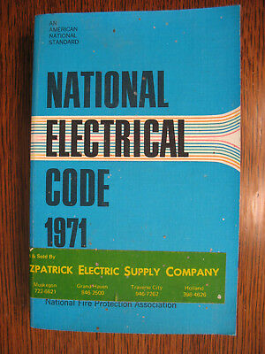 Vintage 1971 National Electrical Code Book National Electrical Code 1971