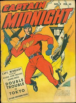 Captain Midnight #5  Good 1943 Fawcett World War Two