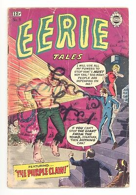 EERIE TALES #11  I.W./Super 1963 - Reprints The Purple Claw #3 1953 - FR/GD